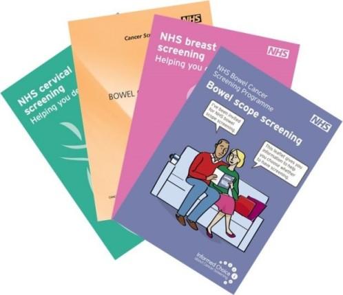 NHS cancer screening leaflets